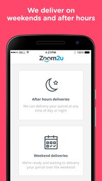 Zoom2u - Fast Courier Delivery apk screenshot