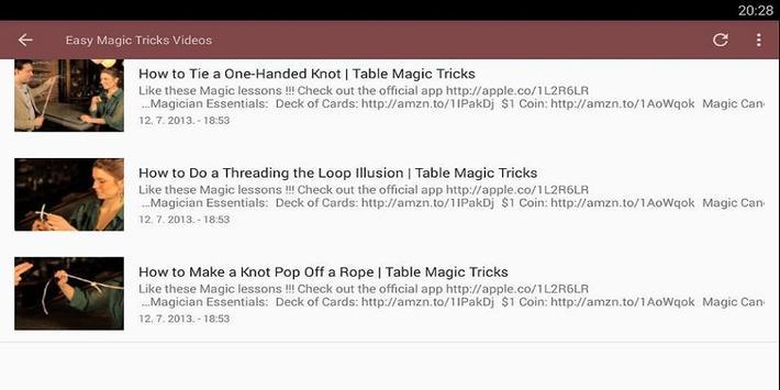 Easy Magic Tricks Videos screenshot 1