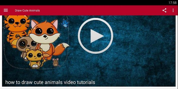 How To Draw Cute Animals Tutorial poster