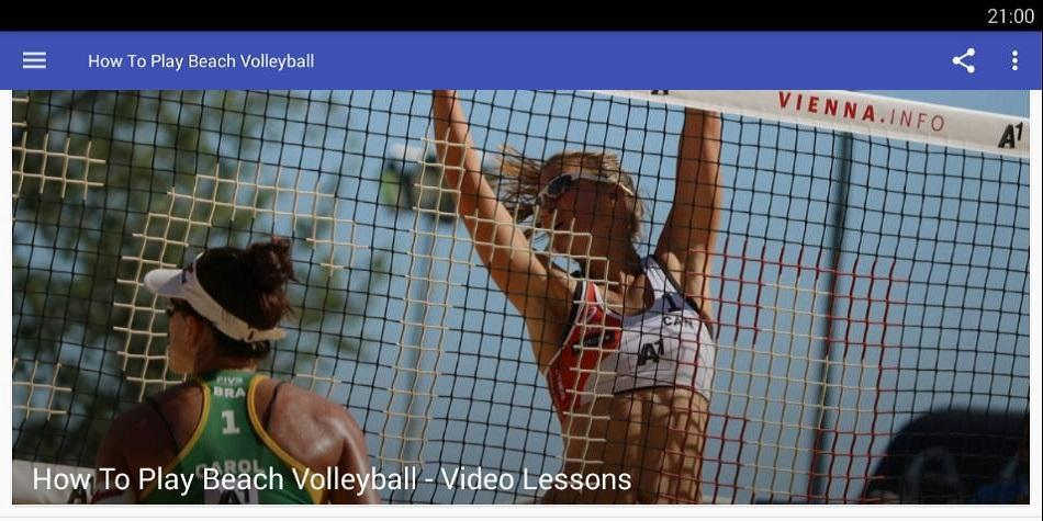 How To Play Beach Volleyball poster