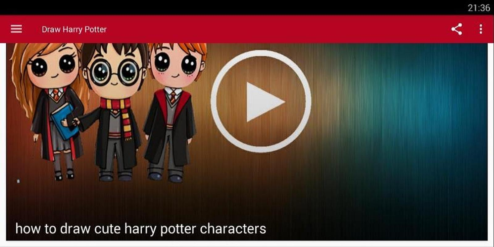 How To Draw Cute Harry Potter For Android Apk Download