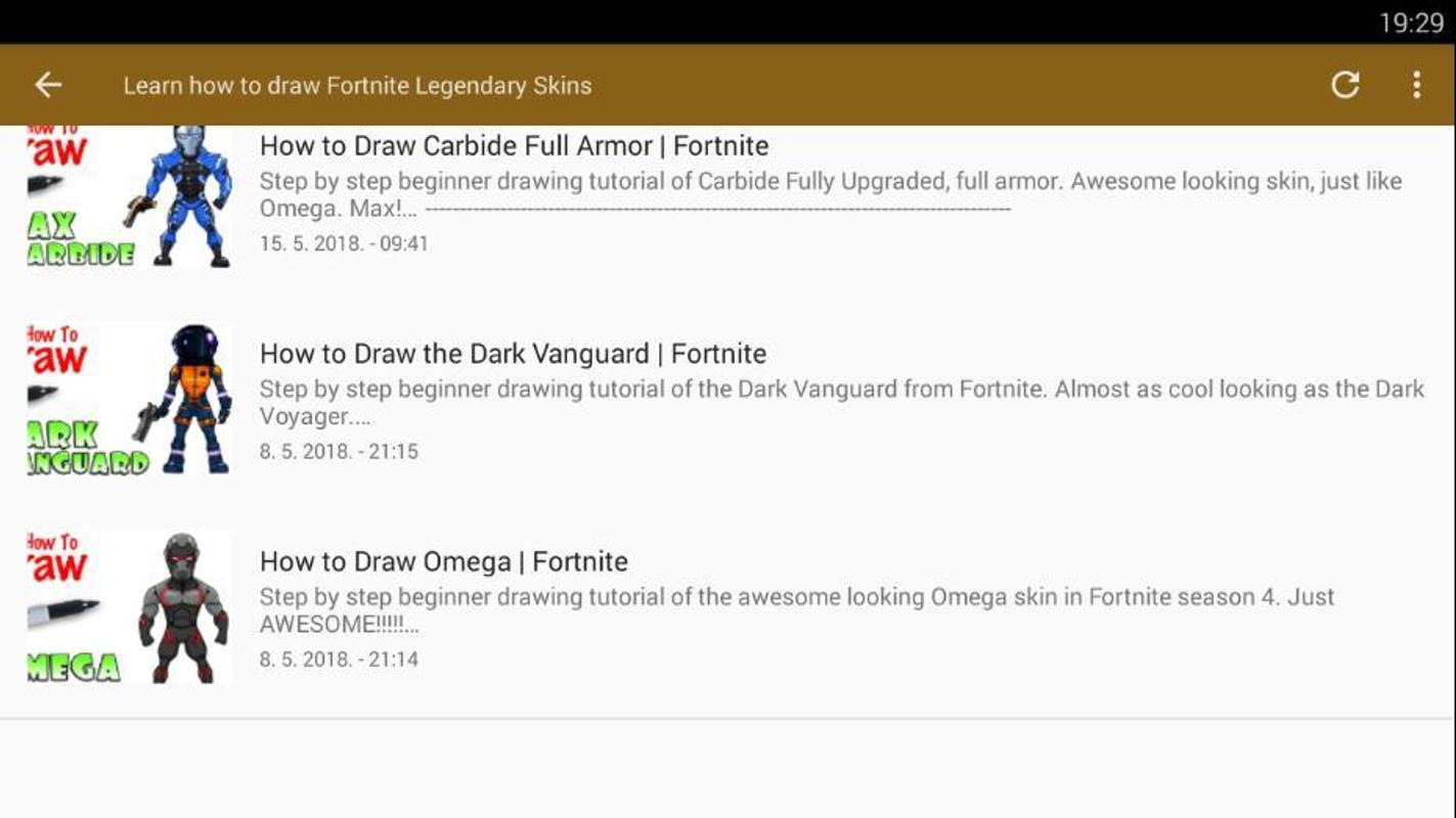 How To Draw Fortnite Legendary Skins For Android Apk Download