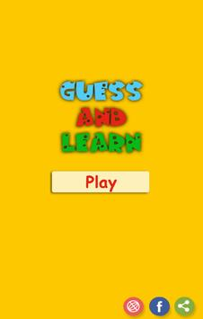 Guess Up : Guess up and learn poster