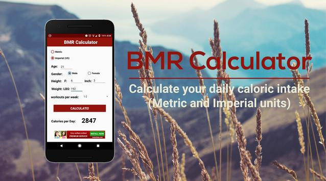 BMR Calculator - Calculate Your Daily Intake! poster