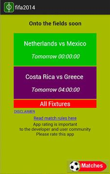 FIFA 2014 Matches and Scores poster