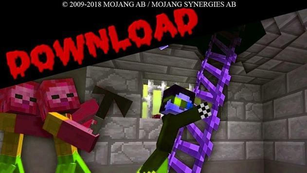 Zombie Apocalypse Minecraft MCPE Maps poster