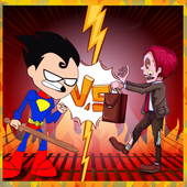 robin run with zombie in hell icon