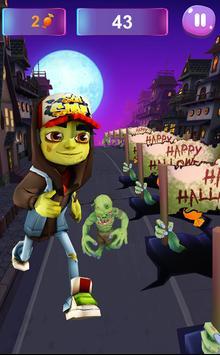 Zombie Subway Halloween Runners poster