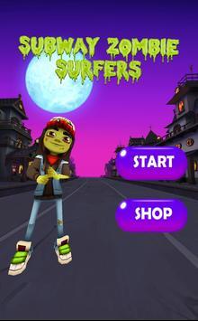 Zombie Subway Halloween Runners screenshot 1