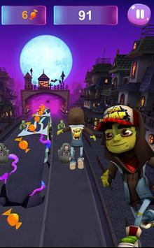 Zombie Subway Halloween Runners screenshot 5