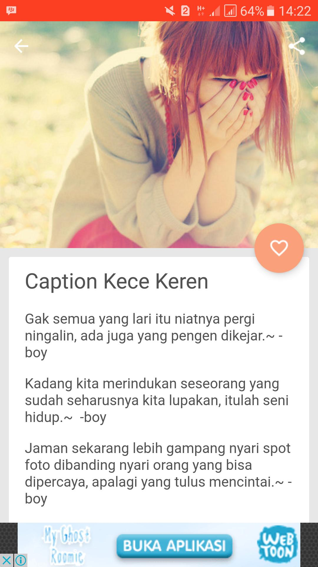 Caption Ig Romantis Cinta For Android Apk Download