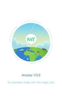 AnySay poster