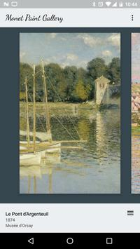 Monet Paint Gallery poster