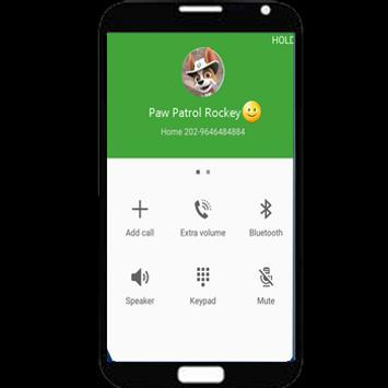 Fake call from Paw Rocky apk screenshot