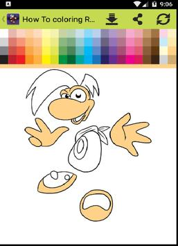 How To Coloring Rayman poster