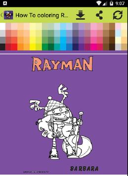 How To Coloring Rayman screenshot 2