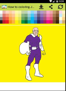 Coloring Justice Young apk screenshot