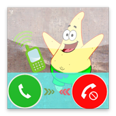Fake call from Sponge BoB icon