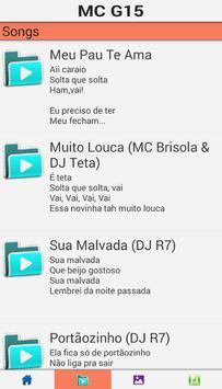 MC G15 Songs Deu Onda apk screenshot