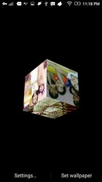 3D Cube Photo Live Wallpaper, 3d Cube Background screenshot 6