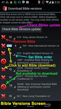 Multi-versions Bible poster
