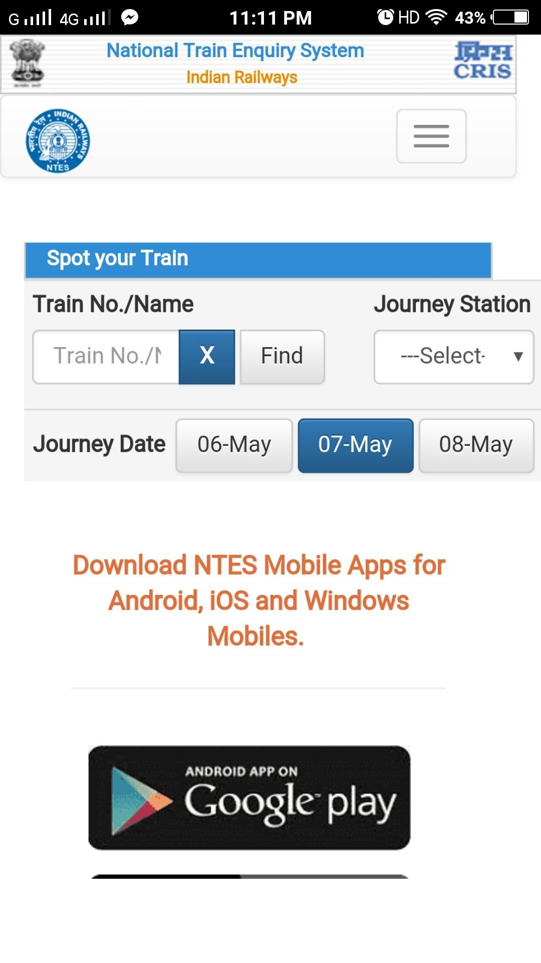 National Train Enquiry System 2018 For Android Apk Download