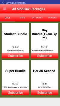 All Mobilink Packages screenshot 1