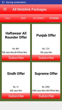 All Mobilink Packages screenshot 3
