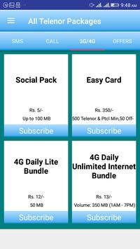 All Telenor Packages screenshot 2