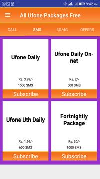 All Ufone Packages 2018 screenshot 1