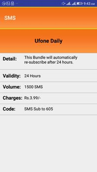 All Ufone Packages 2018 screenshot 3