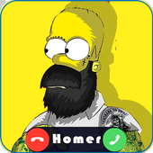 Amazing Homer fake call for the simpsons simulator icon