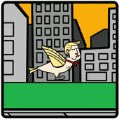 Flying Donald Trump icon