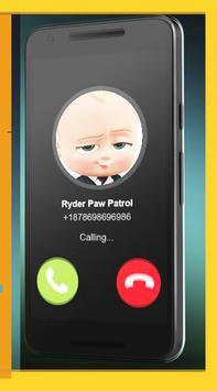 Call From Baby Boss Free: 2018 apk screenshot