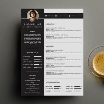 Resume Curriculum Vitae CV poster