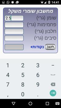 מחשבון הנקודות של שומרי משקל. apk screenshot