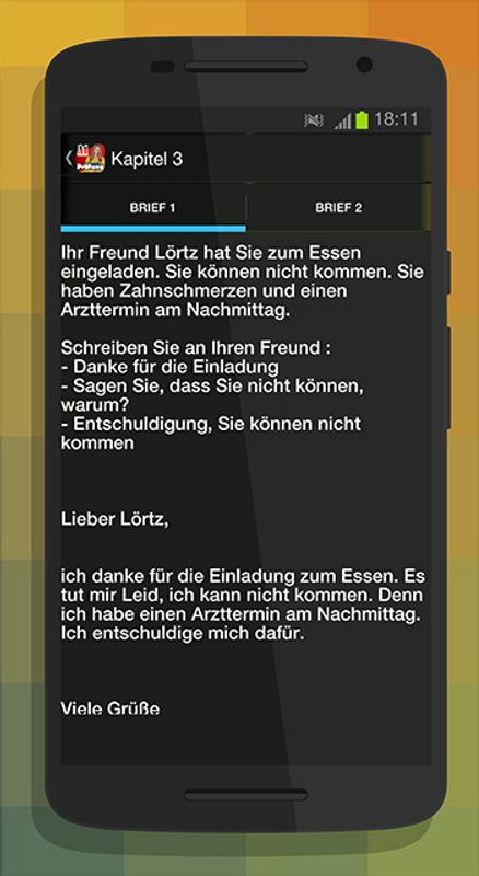Schreiben A1 Zur Prüfung For Android Apk Download