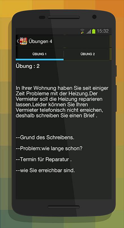 Schreiben A2 Zur Prüfung для андроид скачать Apk
