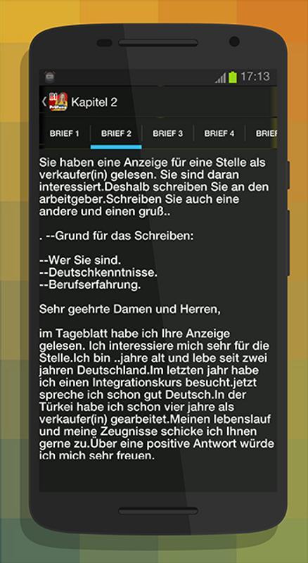 Schreiben B1 Zur Prüfung для андроид скачать Apk