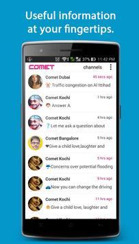 Comet - Live City Updates, Events, Traffic, Fun... apk screenshot