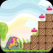 Little unicorn Jungle - run icon
