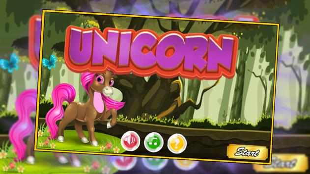 Little unicorn Jungle - run poster