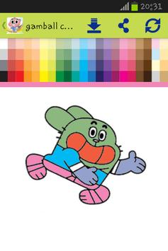 Gamball coloring for kids poster