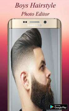 Boys Hairstyle Photo Editor poster