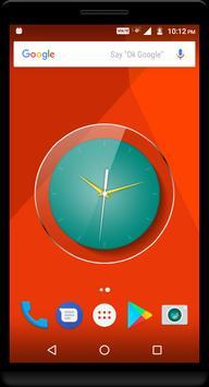 Teal Clock Live Wallpaper apk screenshot