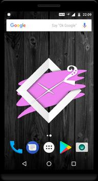 Violet Clock Live Wallpaper apk screenshot