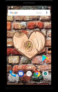 Wood Clock Live Wallpaper apk screenshot