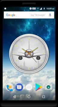 Airplane Clock Live Wallpaper poster