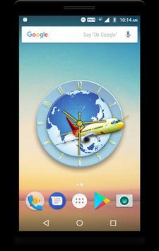 Airplane Clock Live Wallpaper screenshot 4
