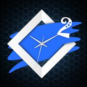 Blue Clock Live Wallpaper icon